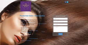 weso web develop The Purple Salon - landing page