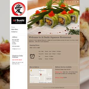 weso web design ai sushi soho