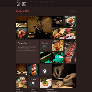 weso web develop Dozo Sushi