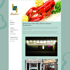 weso web design May Flower Restaurant