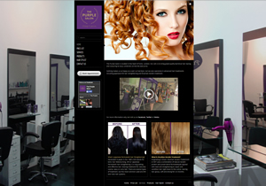 weso web develop Purple Salon