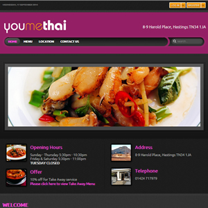 weso web develop Youmethai Restaurant